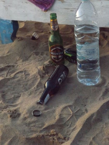 Vodka🍹 Beer - Alcohol Beer Glass By My Cam By Myself Close-up Drinking Glass No People Outdoors Sand Star On Sand