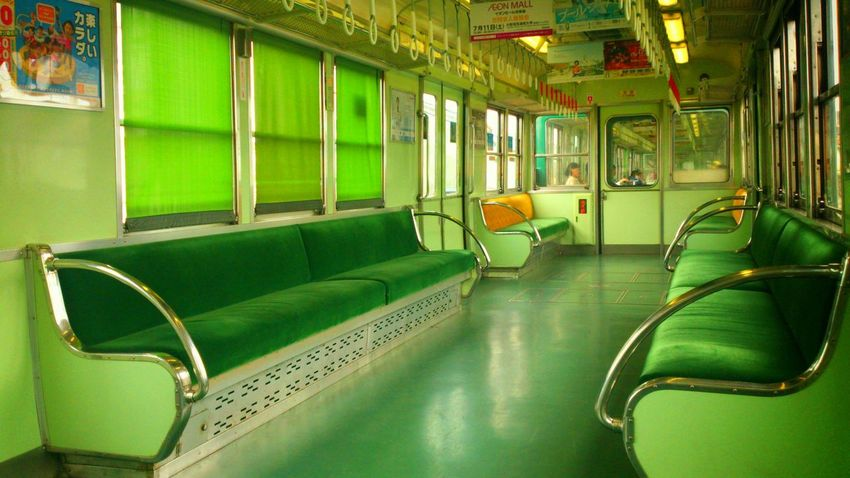 Japan Kyoto Traveling Train Cool Holiday 16×9 Green Cool Japan Colors