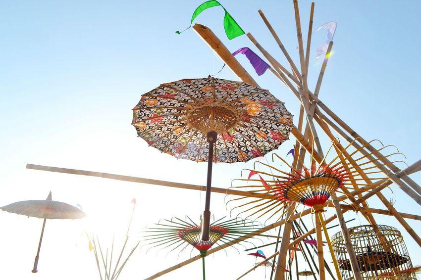 Amusement Park Arts Culture And Entertainment Amusement Park Ride Sky Outdoors Day Umbrella☂☂ Umbrellastreet Umbrella Art Umbrellas In The Sky Festival Decorations Celebration Instalation Artistic EyeEmNewHere EyeEm Selects Be. Ready.