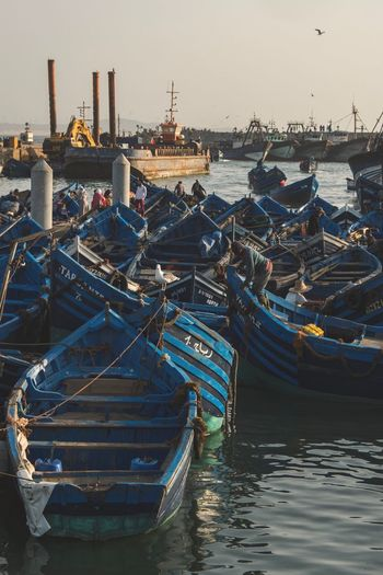 Traditional boats on the port of essaouira Port Beauty In Nature Landscape Streetphoto_color Photojournalism Marrakesh Morocco Travel Destinations Travel Streetphotography Journalism Photography Streetphoto FUJIFILM X-T2 Fujifilm_xseries Fujifilm Streetphotographers Landscape_Collection Fuji EyeEm Best Shots EyeEm Gallery Water Nautical Vessel Transportation Sea Architecture Sky Mode Of Transportation Harbor Commercial Dock