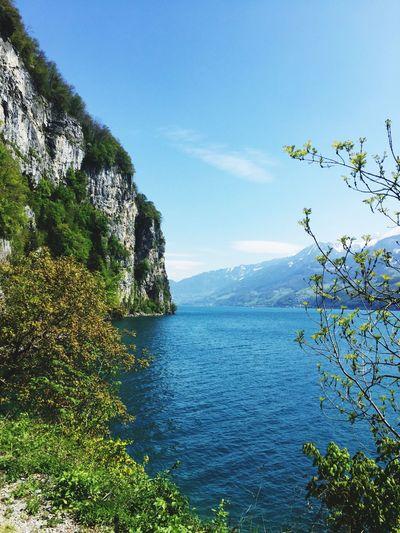 Mountain Beauty In Nature Tranquil Scene Scenics Water Lake Blue Walking Wonderful Day Switzerland