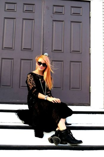 Pretty Girl Black Dress Goth A Little Bit Odd