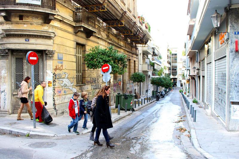 Athens Athens, Greece City City Life City Street Diminishing Perspective Family Rainy Days Stop Sign Street Street Art Street Photography Streetart Streetphotography Walking Around The City
