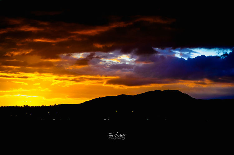 Beauty In Nature Nature Dramatic Sky Scenics Sunset Awe Tranquility Cloud - Sky Silhouette Outdoors Mountain No People Sky Astronomy Galaxy Santa Clarita California Peaceful