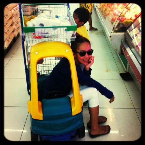 Grocery time... Mother And Son Market Hello World