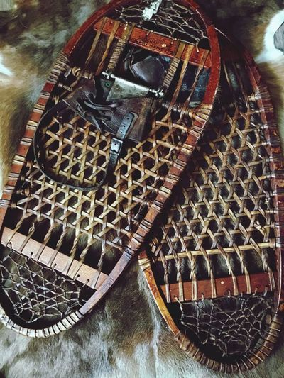 Lieblingsteil Snow Rackets Snowshoes Old Old Woodem Snowshoes
