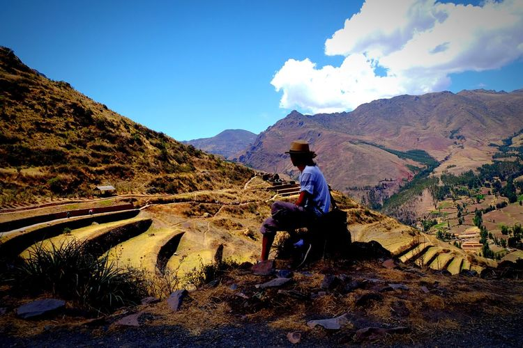 Inca Pisac Perú Valle Sagrado The Great Outdoors With Adobe Mountain View Mountains And Sky Ruins Architecture