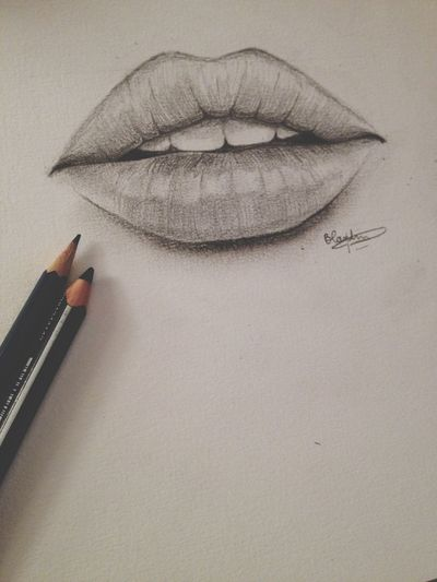 Finished to draw this fuckin' mouth ! Drawing Art LipstIful Photography