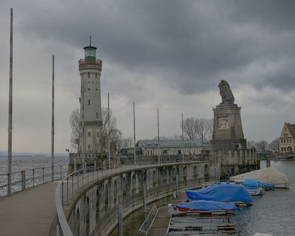 Lindau Bodensee Architecture Building Exterior Built Structure Cloud - Sky Day Harbor History Lighthouse Nature Nautical Vessel No People Outdoors Sculpture Sea Sky Statue Tourism Transportation Travel Destinations Water