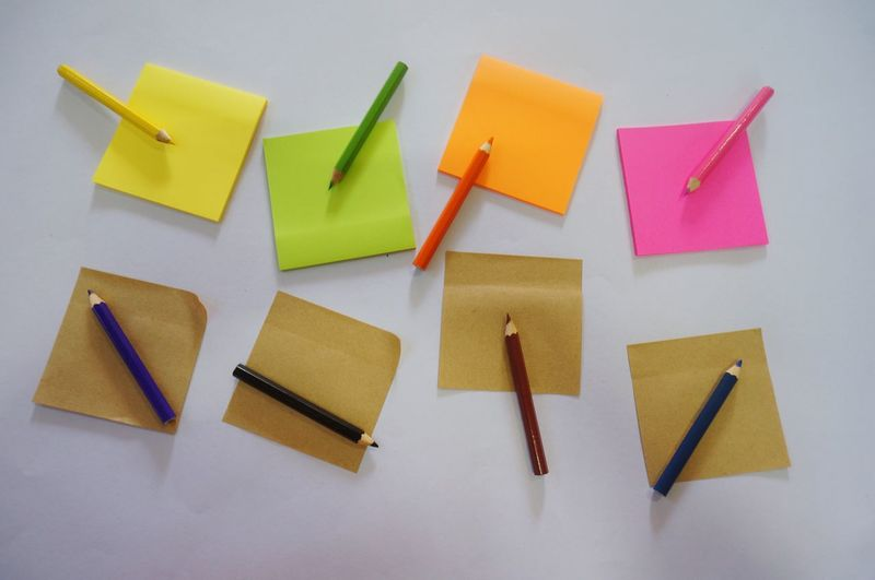 Post it Background Color Art Colorful Post Its Multi Colored Creativity Art And Craft Indoors  Paper No People Choice Communication Text Close-up Large Group Of Objects Yellow