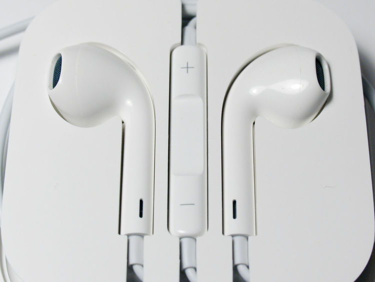 Apple Earphones (EarPods) Accessories Audio Equipment Cable Close-up Earphones Earpods Music Technology White White Background