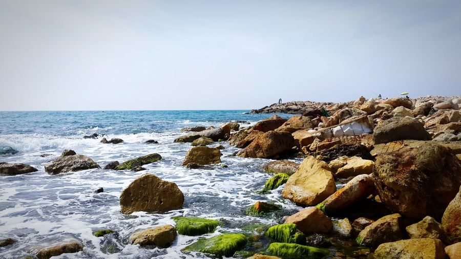 Sea Beach Nature Horizon Over Water Rock - Object Pebble Outdoors Water Beauty In Nature No People Day Vacations Tranquility Travel Destinations Sky Scenics Pebble Beach