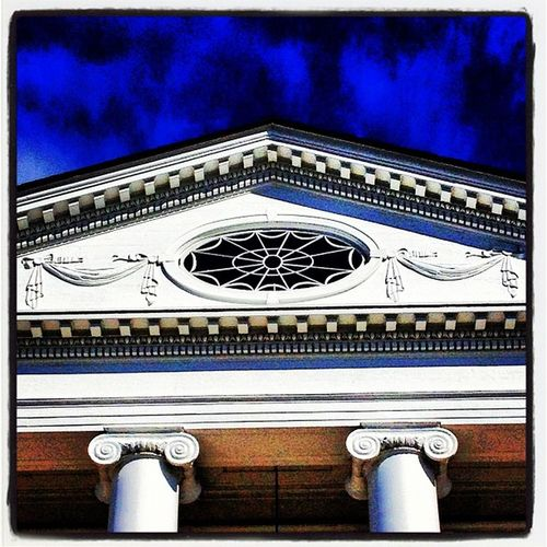 Majestic Peak. #architecture #btv Vt_scene Vernont_scene Architecture Iraallenchapel Roof Blusky Structure University Peak Landmark Chapel Vermont Magnificent Majestic Vt Btv Uvm Iraallen