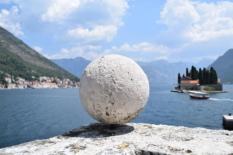 Kotor Bay Orb Architecture Beauty In Nature Cloud - Sky Day Kotor Montenegro Mountain Nature Nautical Vessel No People Outdoors Rock Rock - Object Scenics - Nature Sea Sky Solid Tranquil Scene Tranquility Water