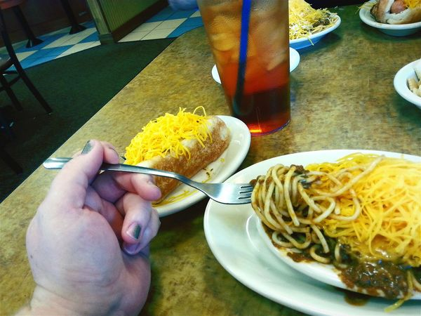 The Foodie - 2015 EyeEm Awards Skyline Chili Coney Sweet Tea 3way First Timer  Different But Good Troy Ohio