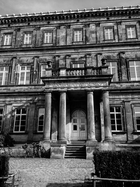 Architectural Column Architecture Blackandwhite Photography Building Exterior Built Structure City Day Façade Germany Photos Official EyeEm © History Musicschool No People Old Oldbuilding Outdoors Pediment Steps EyeEmNewHere