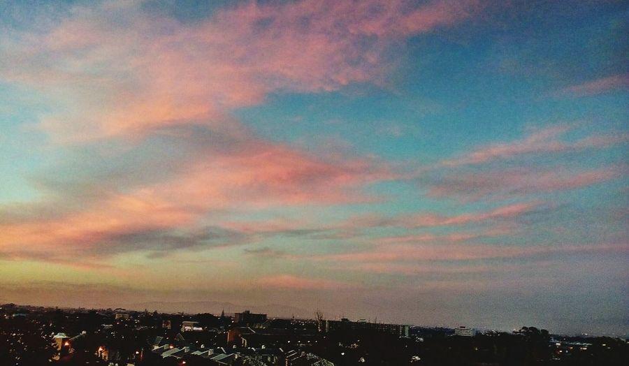 Wow Multi Colored Sunset City Silhouette Dramatic Sky Sky Cloud - Sky Atmospheric Mood Romantic Sky
