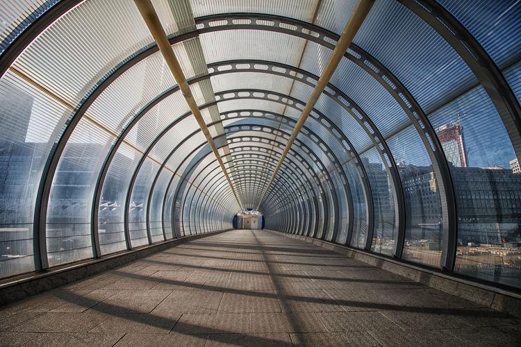 Interior of empty footpath