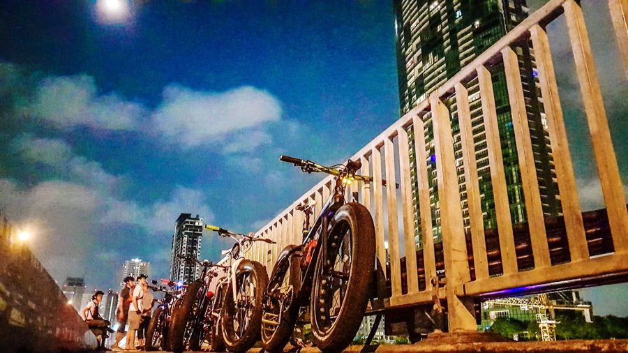 fatbike Built Structure Architecture Building Exterior Outdoors Low Angle View Cloud - Sky