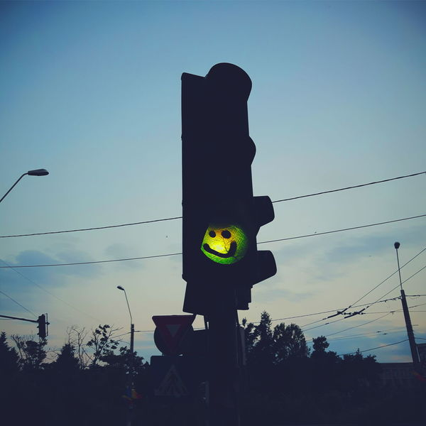 Urban Bucharest Green Light Traffic Lights Smiley Face Graffiti Exploring Style The City Light Welcome To Black