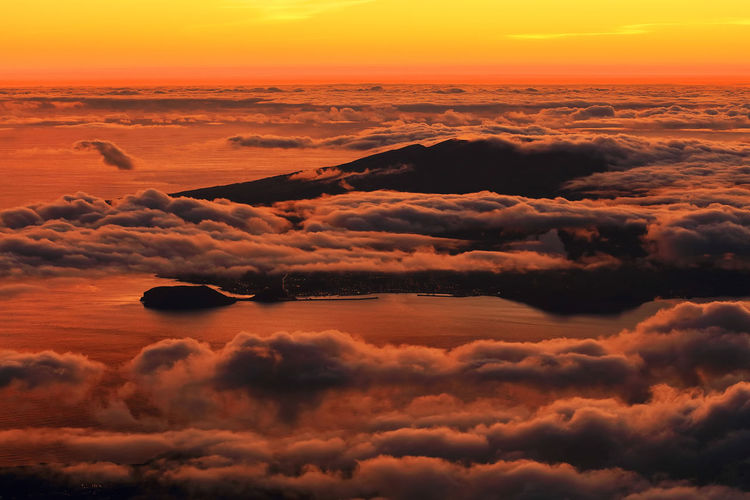 Landscape_Collection Pico Volcano Pico Volcano Azores Portugal Sunset And Clouds  Sunset_collection Travel Travel Photography Altitude Beauty In Nature Clouds Europe Landscape Landscape_photography Nature No People Outdoors Scenics Sky Sunset Sunsets Tranquility Travel Destinations Travelphotography Volcano