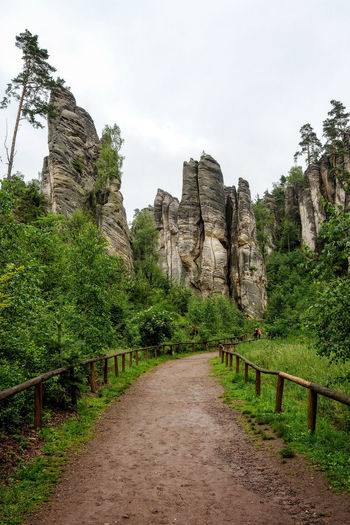 Rock pillar nature park in the Czech Republic. Beautiful Bohemia Bohemian Cliff Climbing Countryside Czech Republic Dangerous Europe Extreme Forest Green Landscape Outdoors Panoramic Paradise Park Paths Recreation  Rock - Object Sandstone Stone Vastness Wood WoodLand