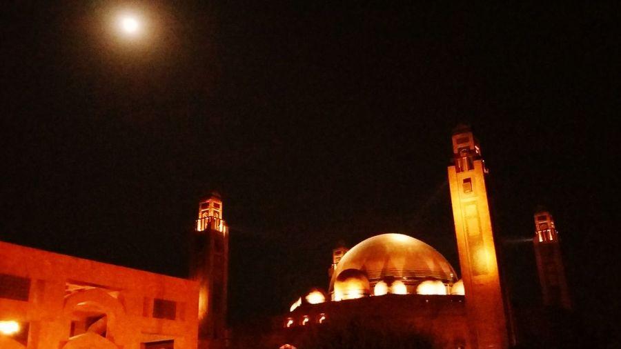 Bahria grand Night Illuminated Architecture Moon Religion First Eyeem Photo