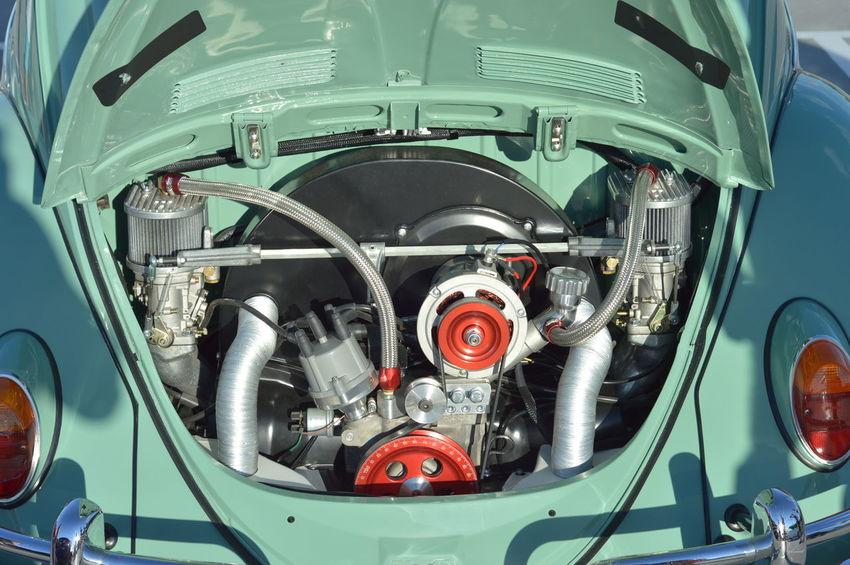 Car Close-up Custom Engineering Low Low  Oldschool Shining VW Beetle