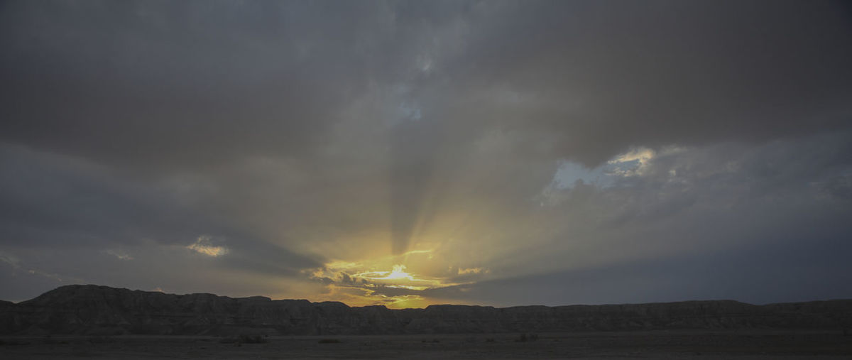 A crazy sunset in Israel Views of the Holy Land Sky Cloud - Sky Beauty In Nature Scenics - Nature Tranquil Scene Tranquility No People Sunset Environment Nature Landscape Non-urban Scene Mountain Storm Outdoors Idyllic Dramatic Sky Overcast Land Climate Ominous