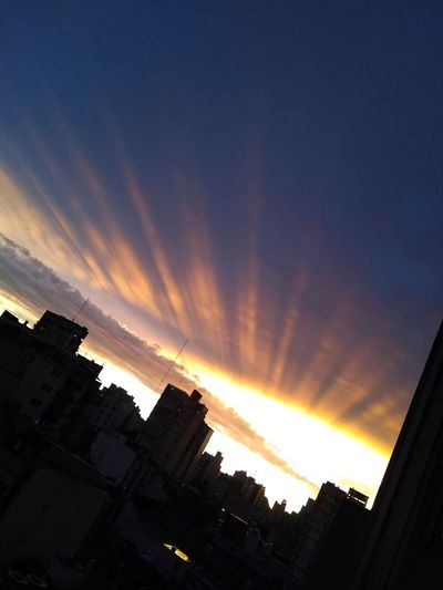 Cityscape Sunset Silhouette Awe Sky