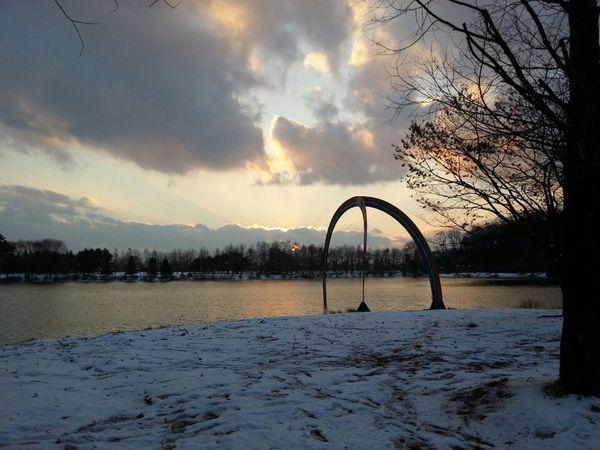 Landscape Lake At The Park Sky