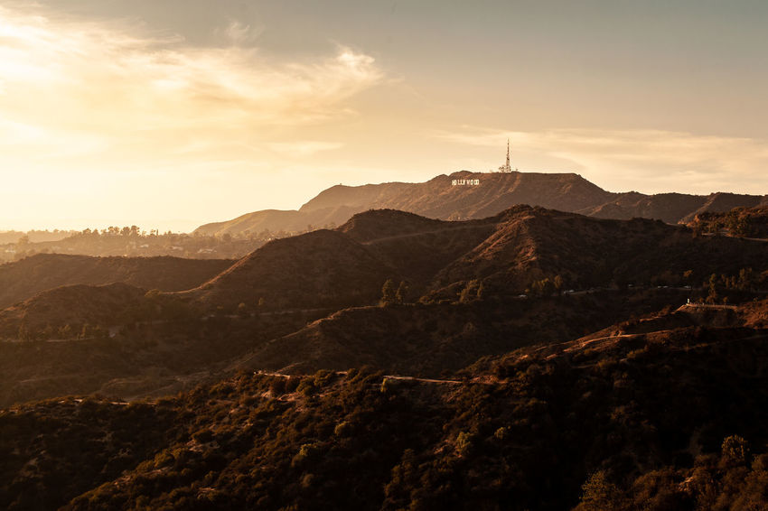 The LA Series / 35mm / Canon 5d Mountain Sky Scenics - Nature Mountain Range Beauty In Nature Environment Nature No People Cloud - Sky Landscape Tranquil Scene Sunset Tranquility Architecture Non-urban Scene Built Structure Outdoors Building Exterior Travel Destinations Sunlight Formation