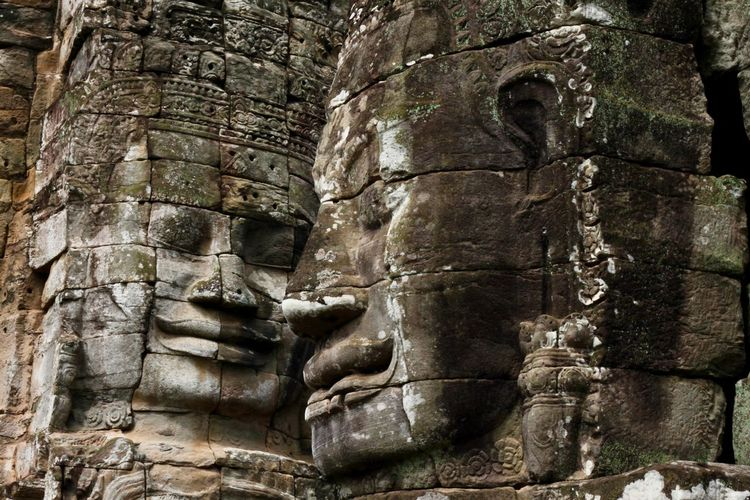 History The Past Architecture Sculpture Ancient Human Representation Religion Art And Craft Spirituality Place Of Worship Travel Destinations Belief Representation Statue Ancient Civilization No People Bas Relief Archaeology Angkor Bayon Temple Angkor Wat, Cambodia Cambodia Angkor Wat Khmer Temple