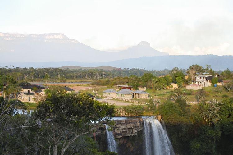 Kama Waterfall - Venezuela Kama Venezuela Mountain Tepuy Water Waterfall
