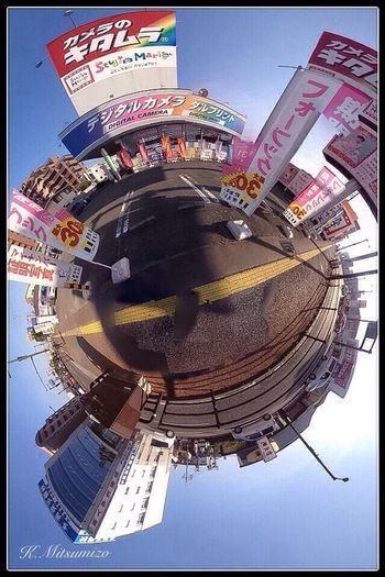 仕事帰りに福岡のカメラ屋さんの前でパチリ Photosynth Theta Tadaa Community IPhoneography Fukuoka 福岡 Theta