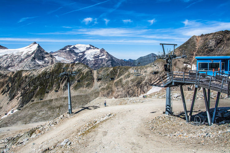 Austria Carinthia Chairlift Cold Temperature Covering Geology Kärnten Landscape Mountain Mountain Range MölltalerGletscher Physical Geography Remote Scenics Skilift Snow Snow Covered Snowcapped Snowcapped Mountain Blue Wave