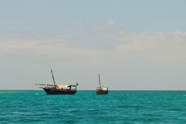 Kisite Marine Park, Kenya. Ocean Water Sailing Nature EyeEm Best Edits EyeEm Best Shots Adventure VSCO Travel Travel Destinations Kenya Africa Beauty In Nature Landscape