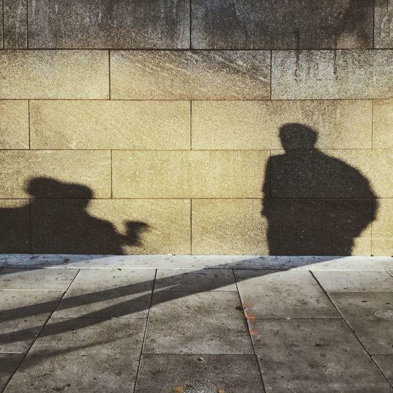 Shadow of people on dog