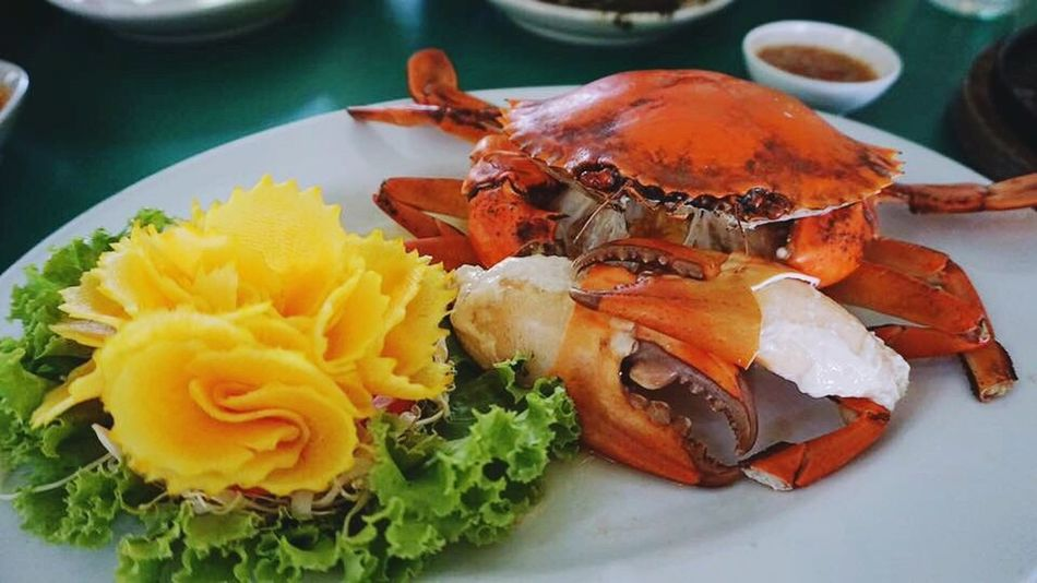 Food Food And Drink Freshness Ready-to-eat Plate Close-up No People Seafood Indoors  Healthy Eating Serving Size High Angle View Day Crab Freshness EyeEm Selects Thailand_allshots Thailand Yummy Good Food Good Life Craving Healthy Lifestyle Tasty Food Photography