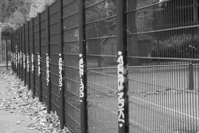Cage No People Day Outdoors Sony Alpha EyeEm Best Edits EyeEm Nature Lover Black & White Love Nature EyeEm Gallery B&W Magic EyeEm Best Shots Close-up Colour Of Life The Best Torquay 70mm Black And White Memories Painting My Year My View Apstract Nostalgia Gate Welcome To Black