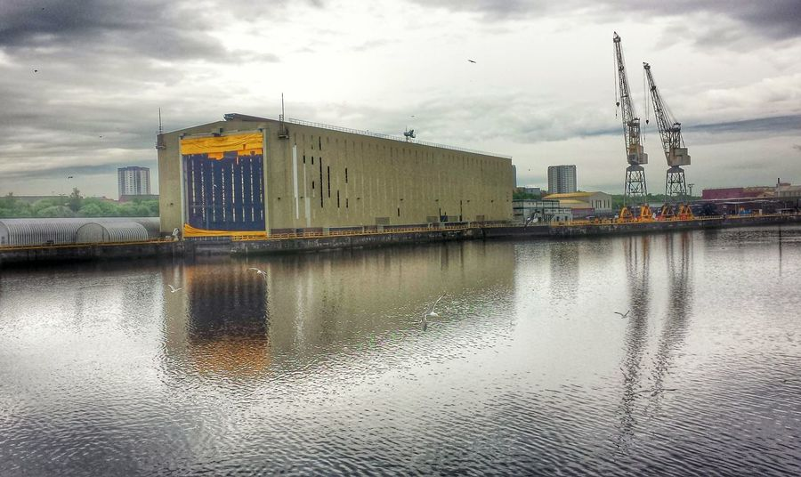 Water Reflections Ship Building Cranespotting