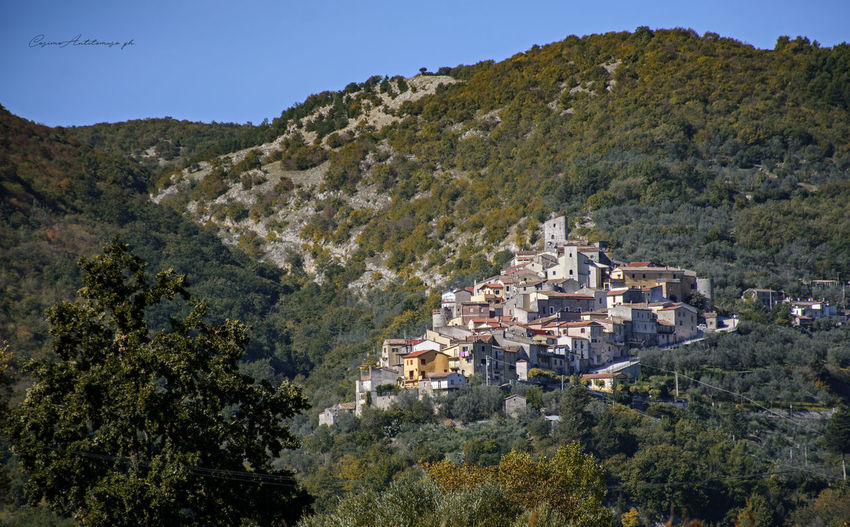 Ciorlano (CE) Architecture Beauty In Nature Blue Building Exterior Built Structure Clear Sky Day High Angle View House Landscape Mountain Mountain Range Nature No People Outdoors Scenics Sky Town Tranquil Scene Tranquility Tree