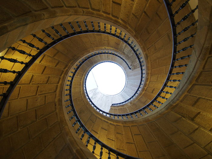 Galicia, Spain Santiago De Compostela Spirit Staircases Architecture Built Structure Day History Indoors  Low Angle View Museum Of The Galician People No People Spiral Spirale Staircase Steps Steps And Staircases Sunlight EyeEmNewHere HUAWEI Photo Award: After Dark It's About The Journey