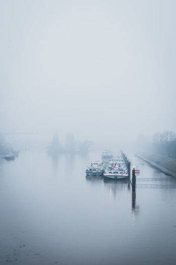 Cold Temperature Fog Nature Nautical Vessel No People Outdoors Sky Transportation Water Winter EyeEmNewHere