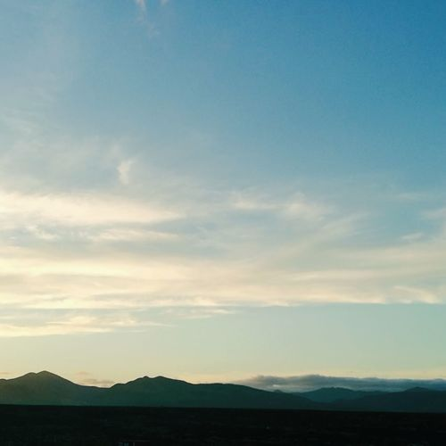 Mountain Blue Silhouette Sky Landscape Mountain Range Tranquil Scene Calm Arid Landscape Sky Only Physical Geography Rocky Mountains Idyllic Tranquility Majestic Scenics Coast Non-urban Scene