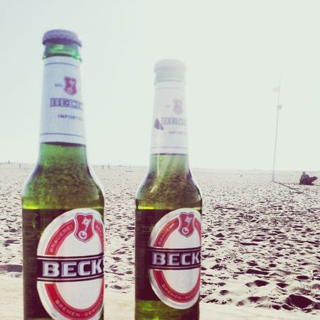 Becks on the beach