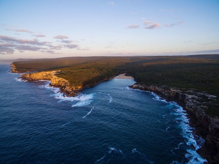 Wattamolla at Sunrise this morning. #dji #phantom4 #royalnationalpark #ilovesydney #sydney #drone #dronefly #dronestagram