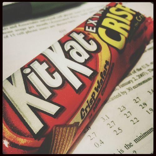 Kit-kat Chocolate Taking Photos Studying Statistics College