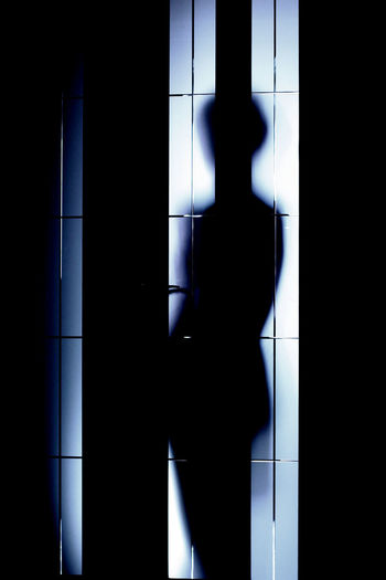 Adult Behind The Door Indoors  One Person People Portrait Real People Siluet Standing Welcome To Black Long Goodbye