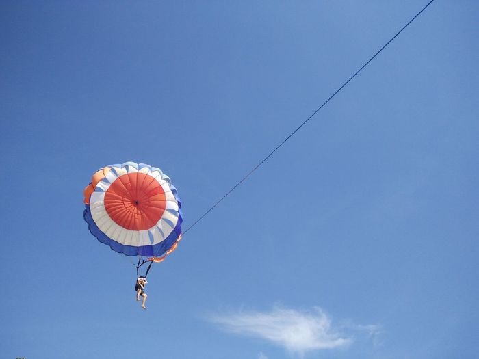 Blue Clear Sky Day Fun Low Angle View Multi Colored Nature No People Outdoors Sky Parasailing Watersports Nusadua Tanjungbenoa Bali, Indonesia Shore